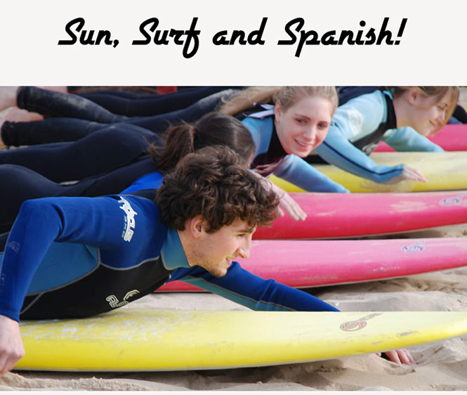 Курсы испанского языка плюс сёрфинг