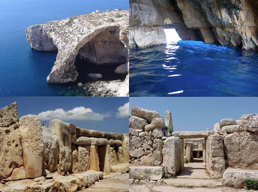 Blue Grotto и Ħaġar Qim Tempels